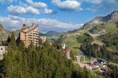 The view of ski station Avoriaz, France Royalty Free Stock Images