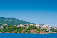 View of Skiathos town Royalty Free Stock Image