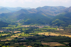 The view from Skiddaw in the Lake District Stock Photography