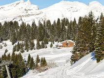 View of skiing area in Portes du Soleil region Stock Photography