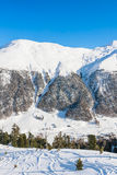 View of skiing resort in Alps. Livigno Stock Photo