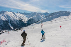 View of skiing resort in Alps. Livigno Stock Photos