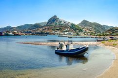 View of Skiros island, located in Sporades, Greece stock images