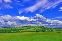 View from Skirsgill, Penrith, Cumbria, England stock photography