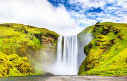 View of Skogafoss waterfall on the Skoga River - Iceland. View of Skogafoss waterfall on the Skoga River - South Iceland Stock Photos