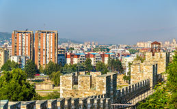View of Skopje from the fortress Stock Image