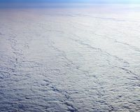 View of the sky above the clouds, solid clouds layer Stock Images