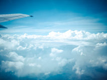 View of the sky from airplane Royalty Free Stock Images