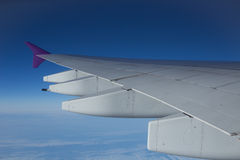 A view of the sky from airplane Stock Photo