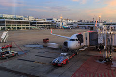 View of sky and apron in the morning Royalty Free Stock Photo
