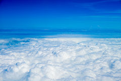 View of sky with beautiful clouds Stock Photo