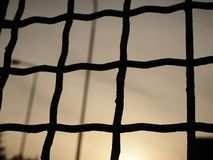 View of the sky from behind the bars, abstract background stock images