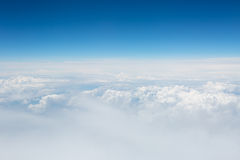 View of the sky and clouds from the airplane Stock Photography