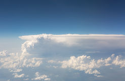 View of the sky and clouds from the airplane Stock Image