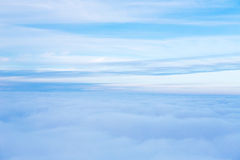 View of the sky and clouds from the airplane Royalty Free Stock Image
