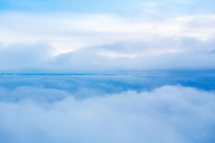 View of the sky and clouds from the airplane Royalty Free Stock Photos