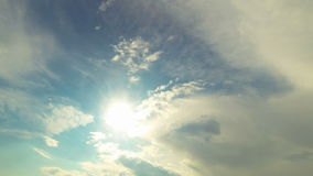 View of the sky and clouds stock footage
