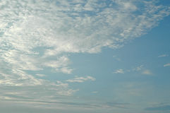 View of the sky in the morning Royalty Free Stock Photo