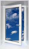 View on sky through open window Royalty Free Stock Image
