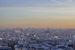 View from the sky of paris Stock Photo