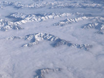 View from sky of Southern Alps, New Zealand Royalty Free Stock Photo