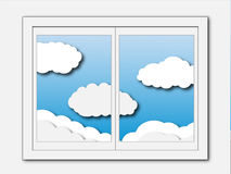 A view of the sky through a window Royalty Free Stock Image