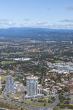 View of the skyline and the area of Surfers Paradise Royalty Free Stock Image