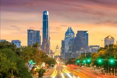 A View of the Skyline Austin stock photography