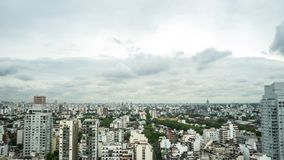 View of the skyline of Buenos Aires on a cloudy day Stock Images