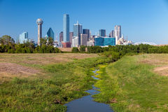 A View of the Skyline of Dallas, Texas Royalty Free Stock Photos