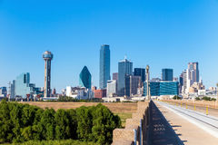 A View of the Skyline of Dallas, Texas stock images