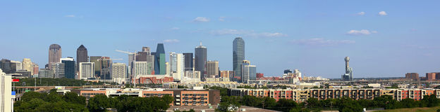 View on Skyline of Downtown Dallas Royalty Free Stock Images