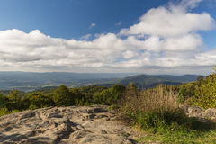 View from the Skyline Drive in Virginia. Taken from the Skyline Drive in the Shenandoah National Park Stock Images