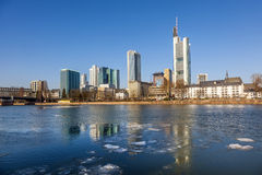 View of the skyline of Frankfurt, Royalty Free Stock Image