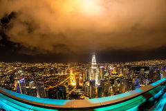 View on the Skyline of Kuala Lumpur at night Royalty Free Stock Photography
