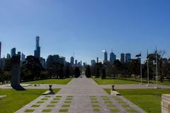 View of the skyline in Melbourne, Australia royalty free stock images