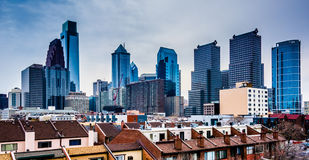 View of the skyline from a parking garage in Philadelphia, Penns Royalty Free Stock Photo