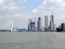 View on skyline rotterdam Royalty Free Stock Photo