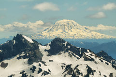 View from Skyline Trail of Tatoosh Range and Mount Adams Stock Images
