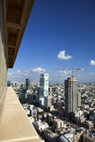 Skyscraper View. A view from a skyscraper to the east showing part of the cityscape of Tel-Aviv, the largest metropolis in Israel Stock Image