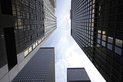 View of skyscrapers in Financial District Toronto Royalty Free Stock Images