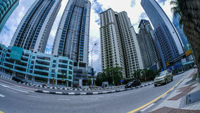 View of the skyscrapers in Kuala Lumpur Stock Photo