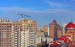 View of skyscrapers in Kyiv, Ukraine. Kyiv is a capital of Ukrai Stock Image