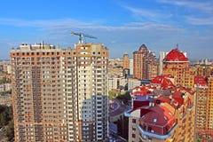 View of skyscrapers in Kyiv, Ukraine. Kyiv is a capital of Ukrai Stock Photo