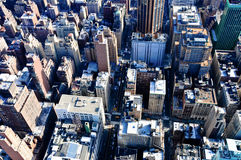 View of skyscrapers in Manhattan, New York Royalty Free Stock Image