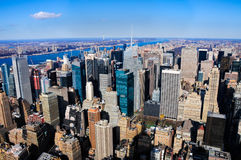 View of skyscrapers in Manhattan, New York Royalty Free Stock Images