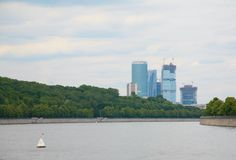View of skyscrapers from Moscow River Stock Image