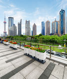 View of skyscrapers and park, the Pudong New District, Shanghai Royalty Free Stock Photography