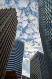 A view on skyscrapers Royalty Free Stock Photo