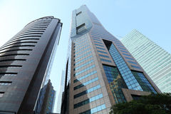 View of skyscrapers in singapore. At noon Royalty Free Stock Image